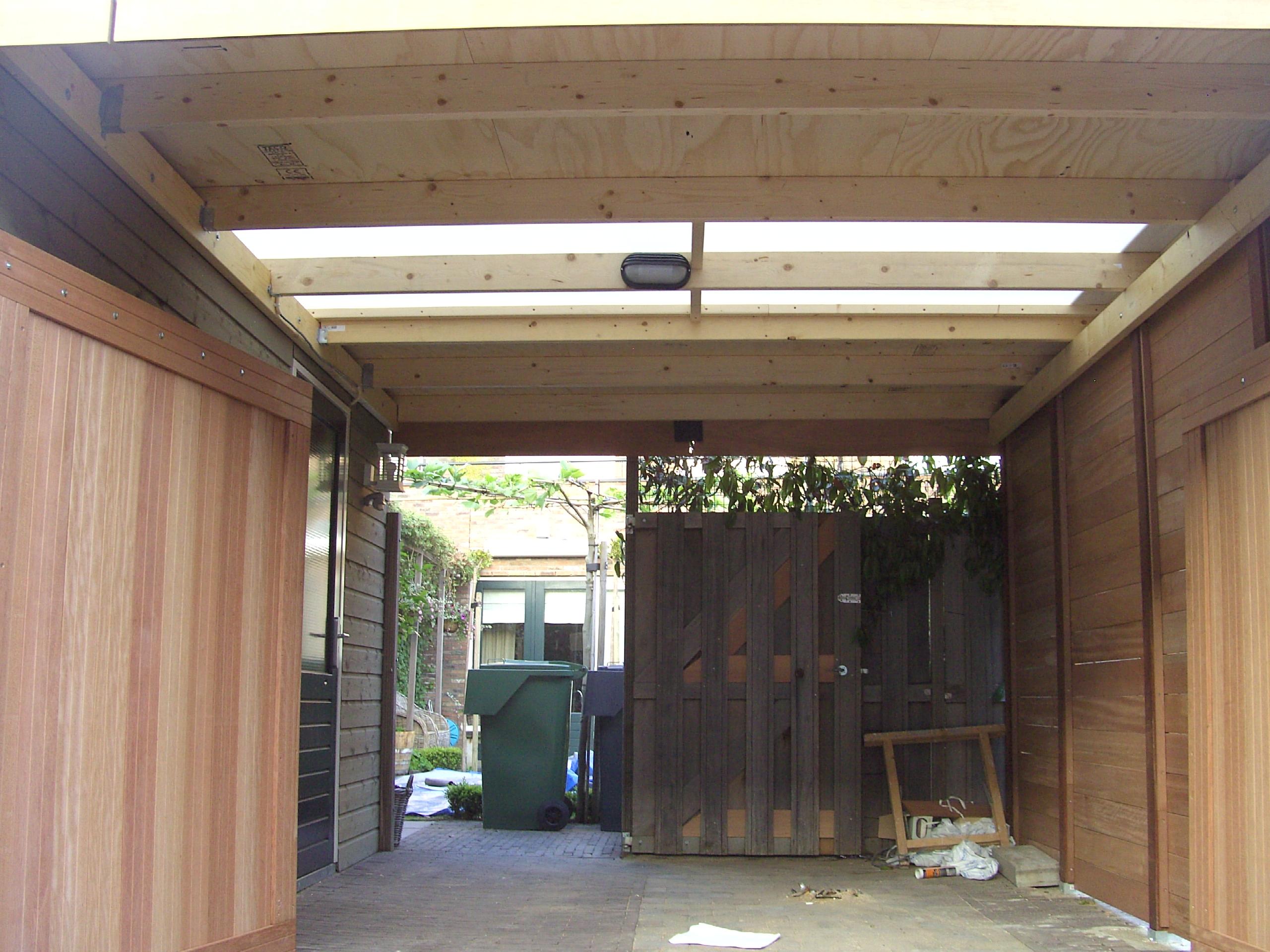 Carport doorzichtig dak